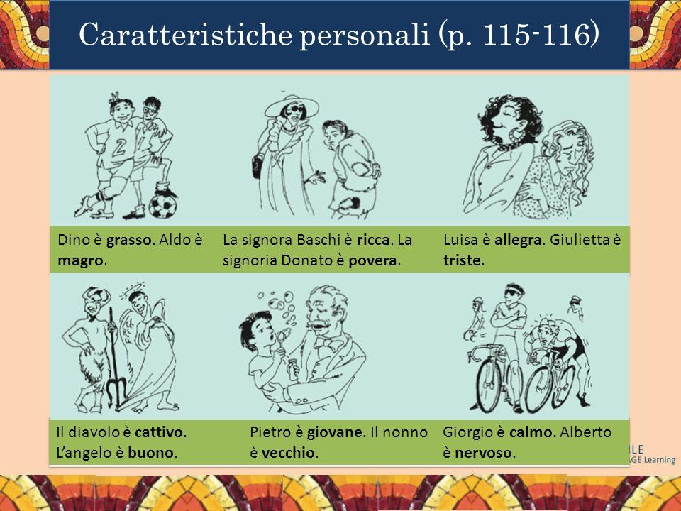 Caratteristiche personali (p. 115-116)