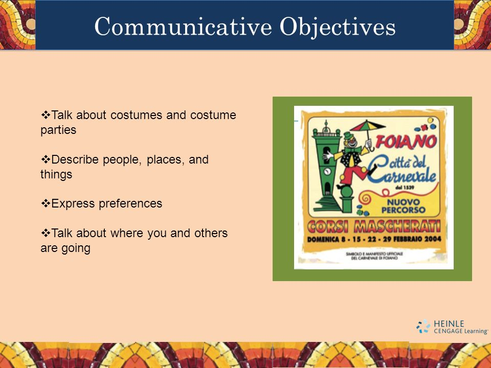 Communicative Objectives