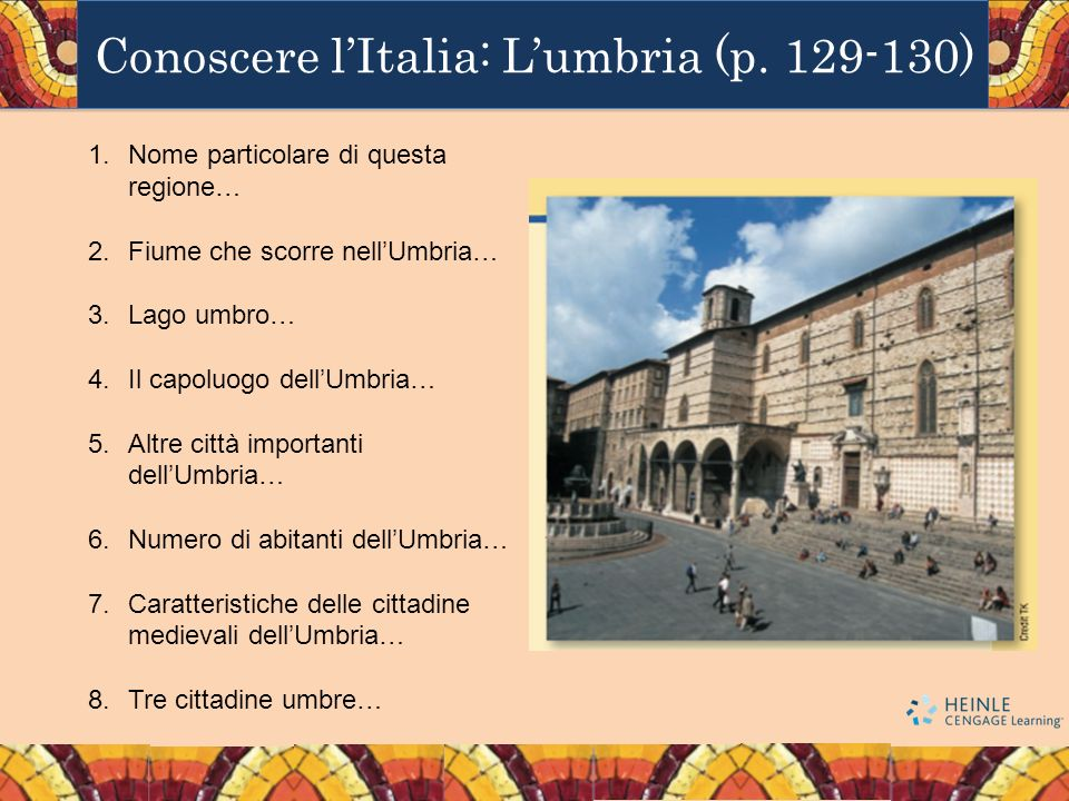 Conoscere l'Italia: L'umbria (p. 129-130)