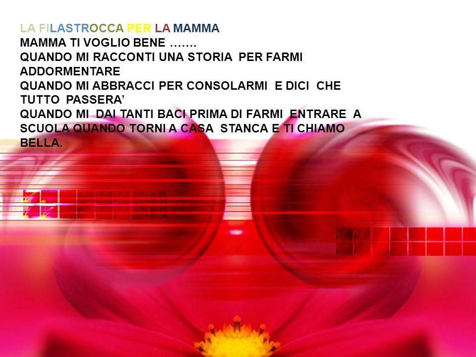 LA FILASTROCCA PER LA MAMMA