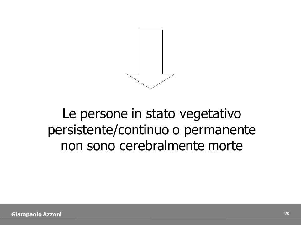 Le persone in stato vegetativo persistente/continuo o permanente