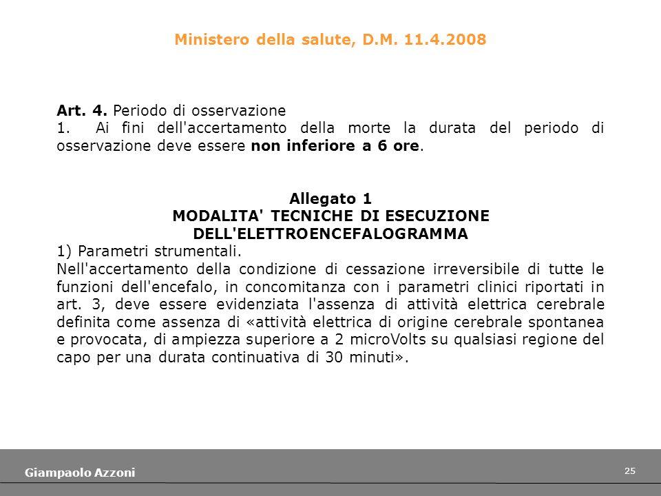 MODALITA TECNICHE DI ESECUZIONE DELL ELETTROENCEFALOGRAMMA