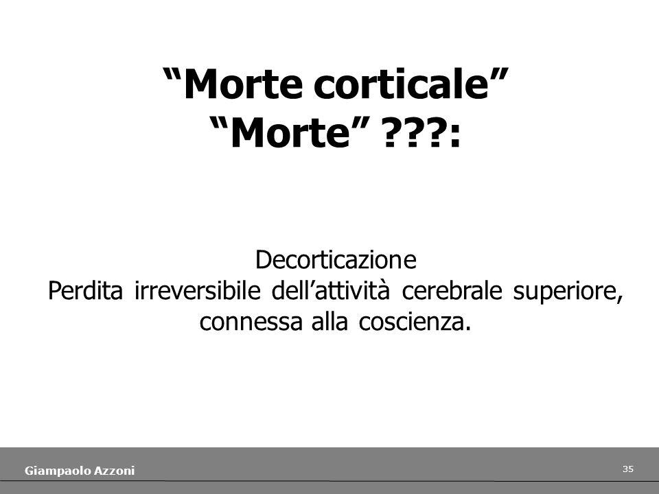 Morte corticale Morte :