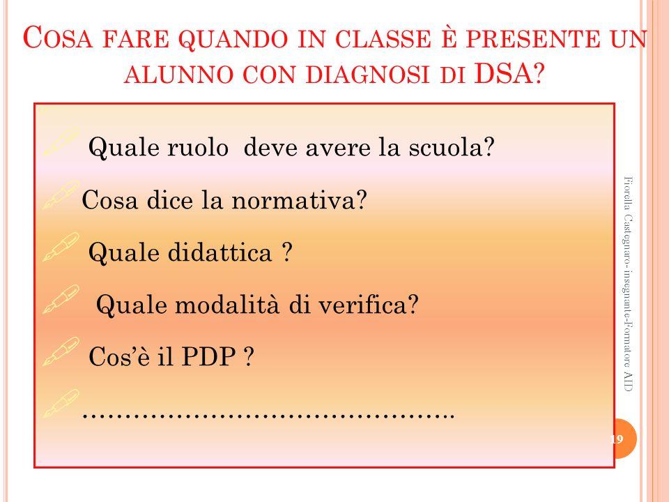 Cosa fare quando in classe è presente un alunno con diagnosi di DSA