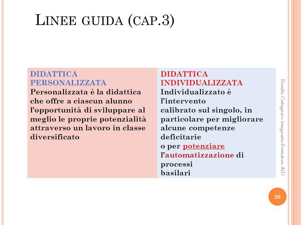 Linee guida (cap.3) DIDATTICA PERSONALIZZATA