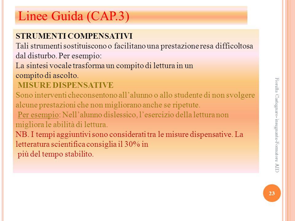 Linee Guida (CAP.3) STRUMENTI COMPENSATIVI