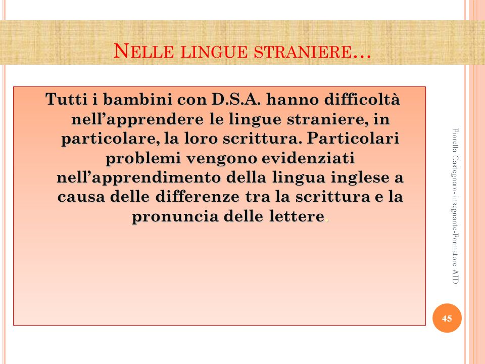 Nelle lingue straniere…