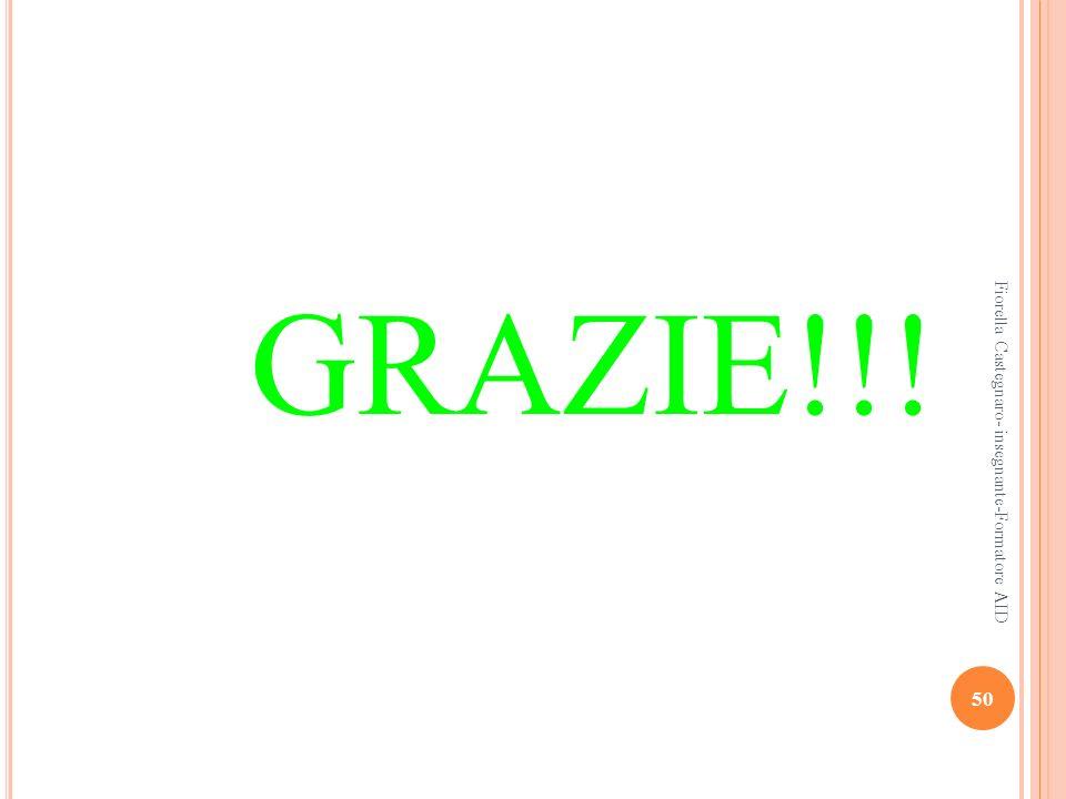 GRAZIE!!! Fiorella Castegnaro- insegnante-Formatore AID