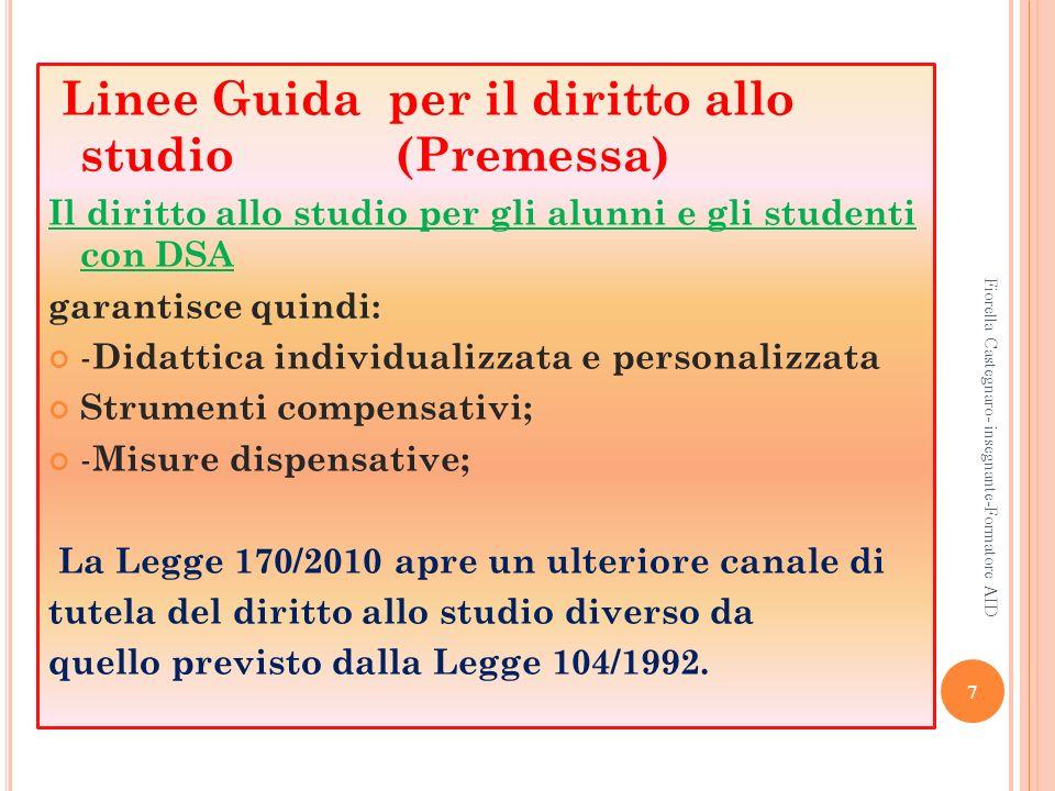 Linee Guida per il diritto allo studio (Premessa)