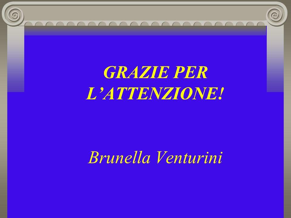 GRAZIE PER L'ATTENZIONE! Brunella Venturini