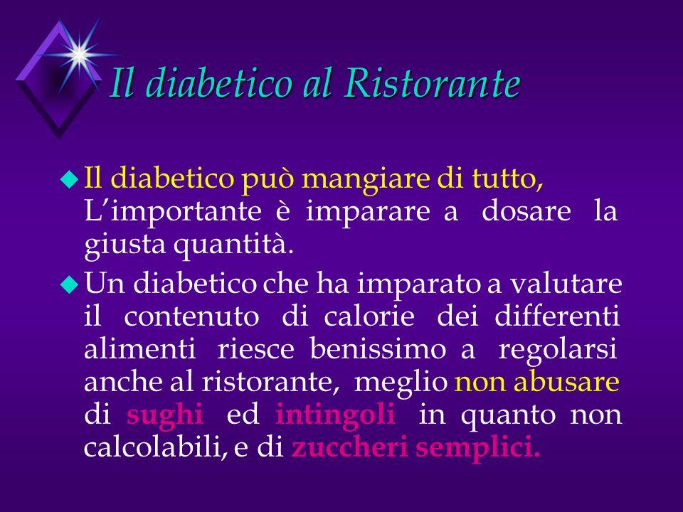 Il diabetico al Ristorante