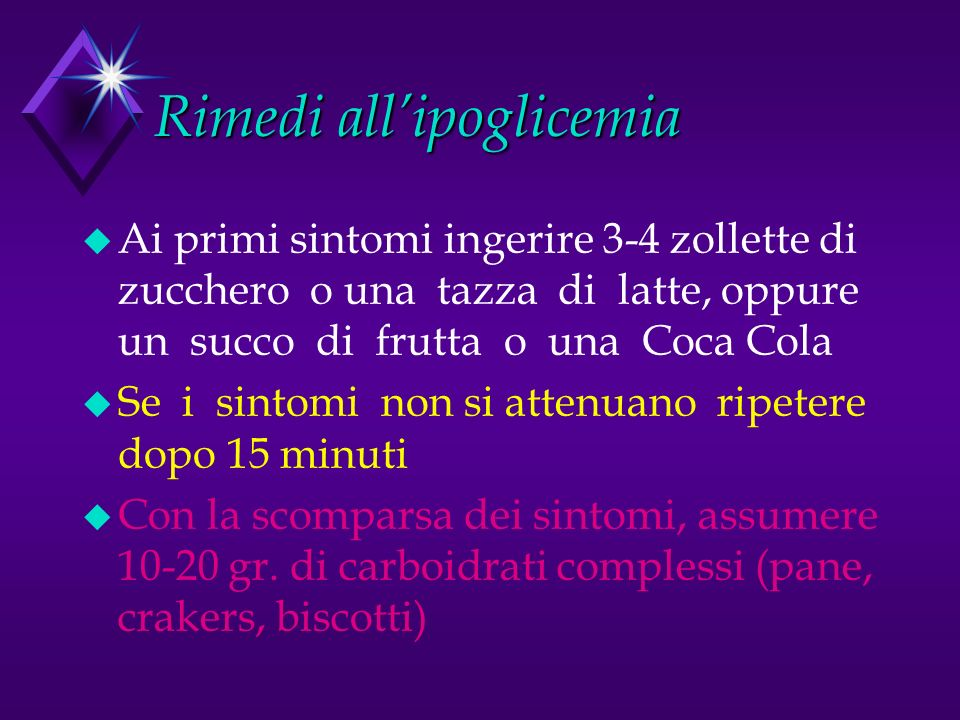 Rimedi all'ipoglicemia