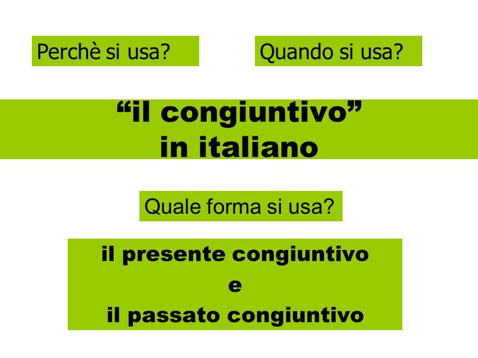 il congiuntivo in italiano