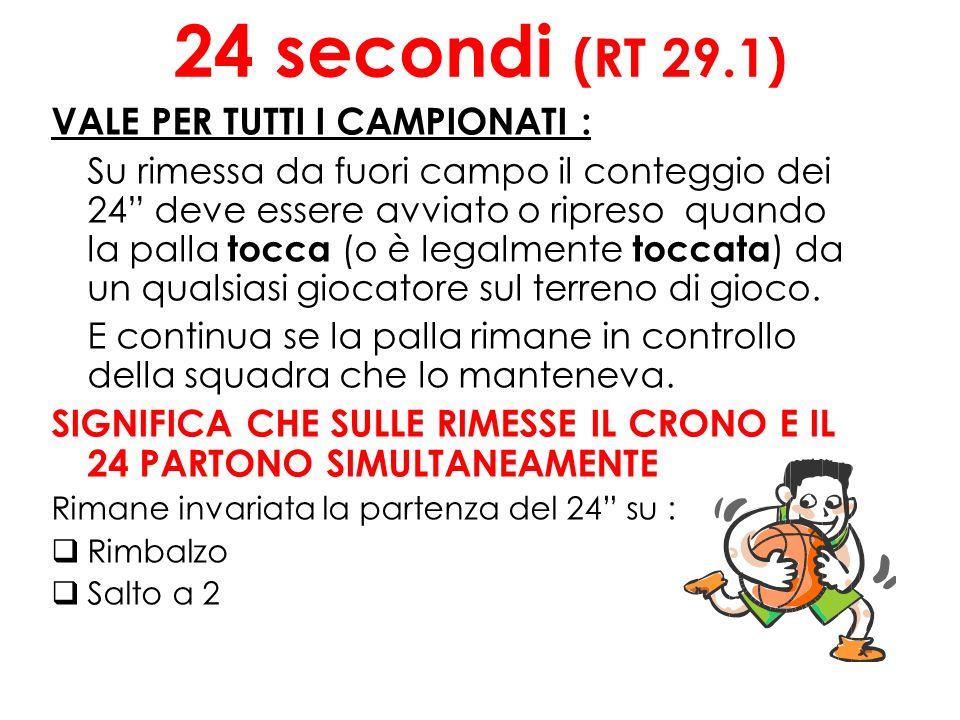 24 secondi (RT 29.1) VALE PER TUTTI I CAMPIONATI :