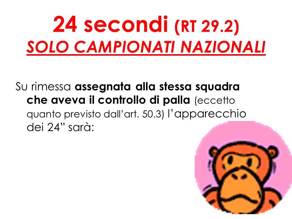 24 secondi (RT 29.2) SOLO CAMPIONATI NAZIONALI