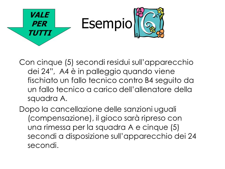 VALE PER TUTTI Esempio 6.