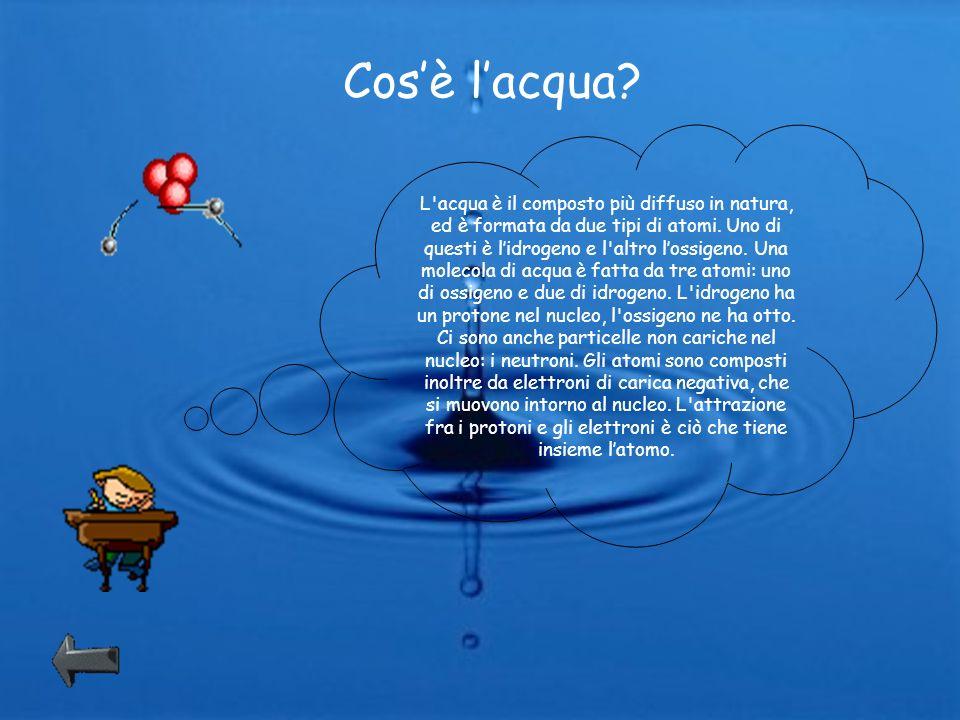L acqua propriet chimiche e fisiche dell acqua cos l for Tipi di rubinetti dell acqua esterni