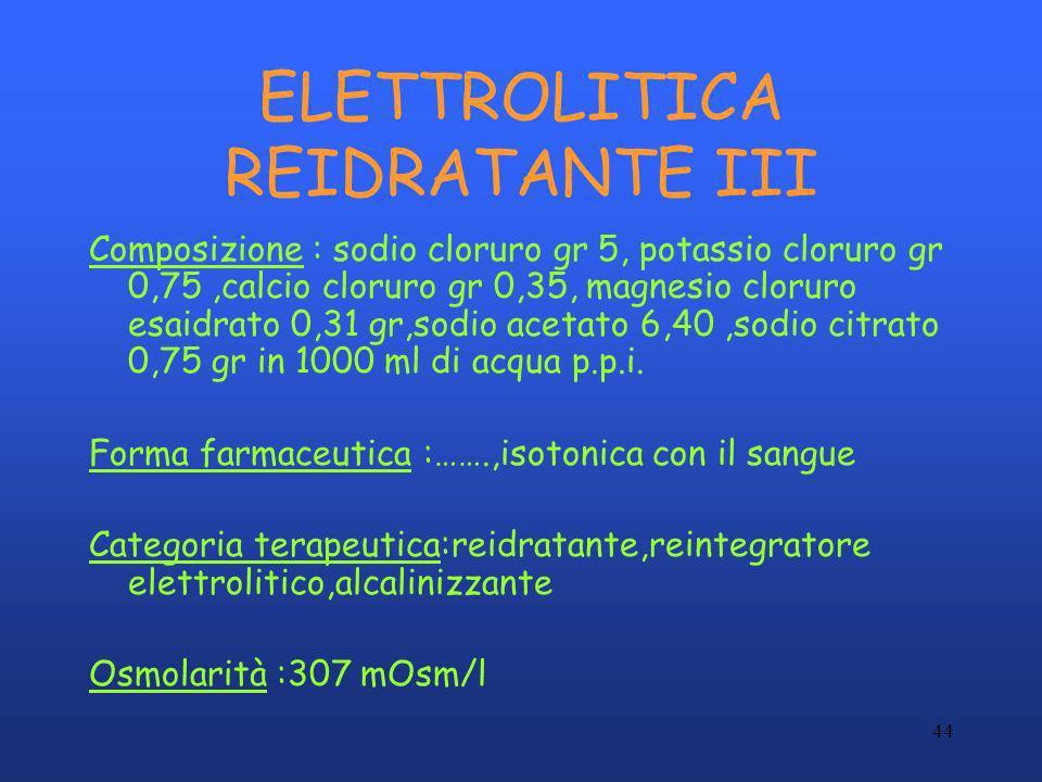 ELETTROLITICA REIDRATANTE III