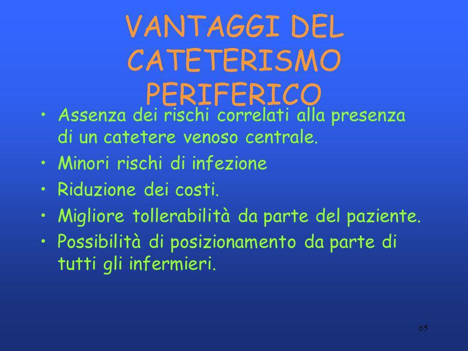 VANTAGGI DEL CATETERISMO PERIFERICO