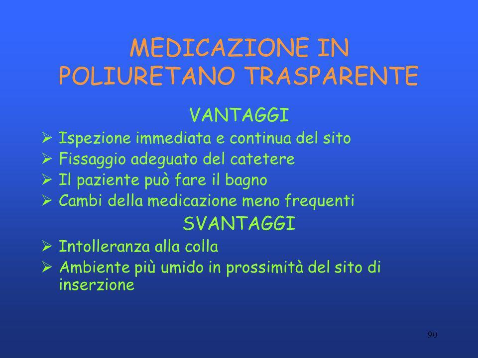 MEDICAZIONE IN POLIURETANO TRASPARENTE