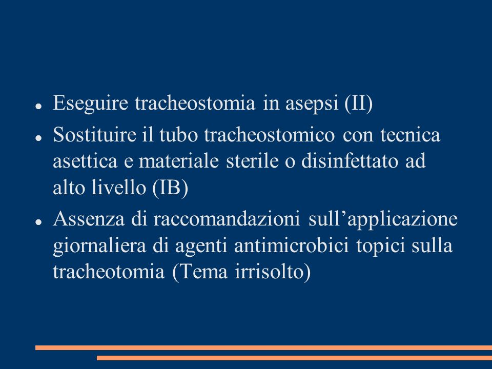Eseguire tracheostomia in asepsi (II)