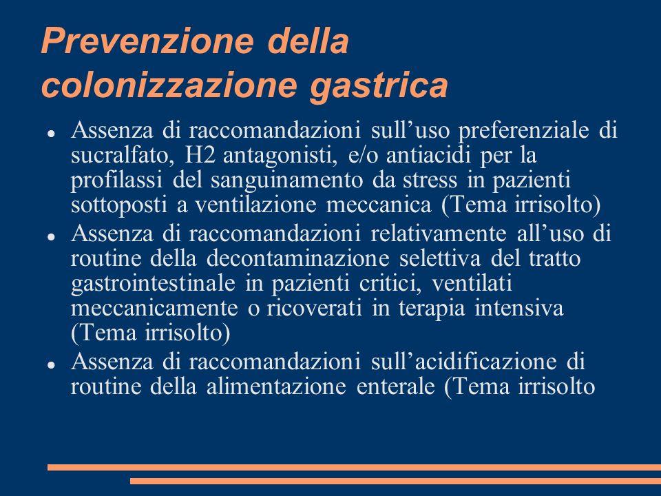 Prevenzione della colonizzazione gastrica