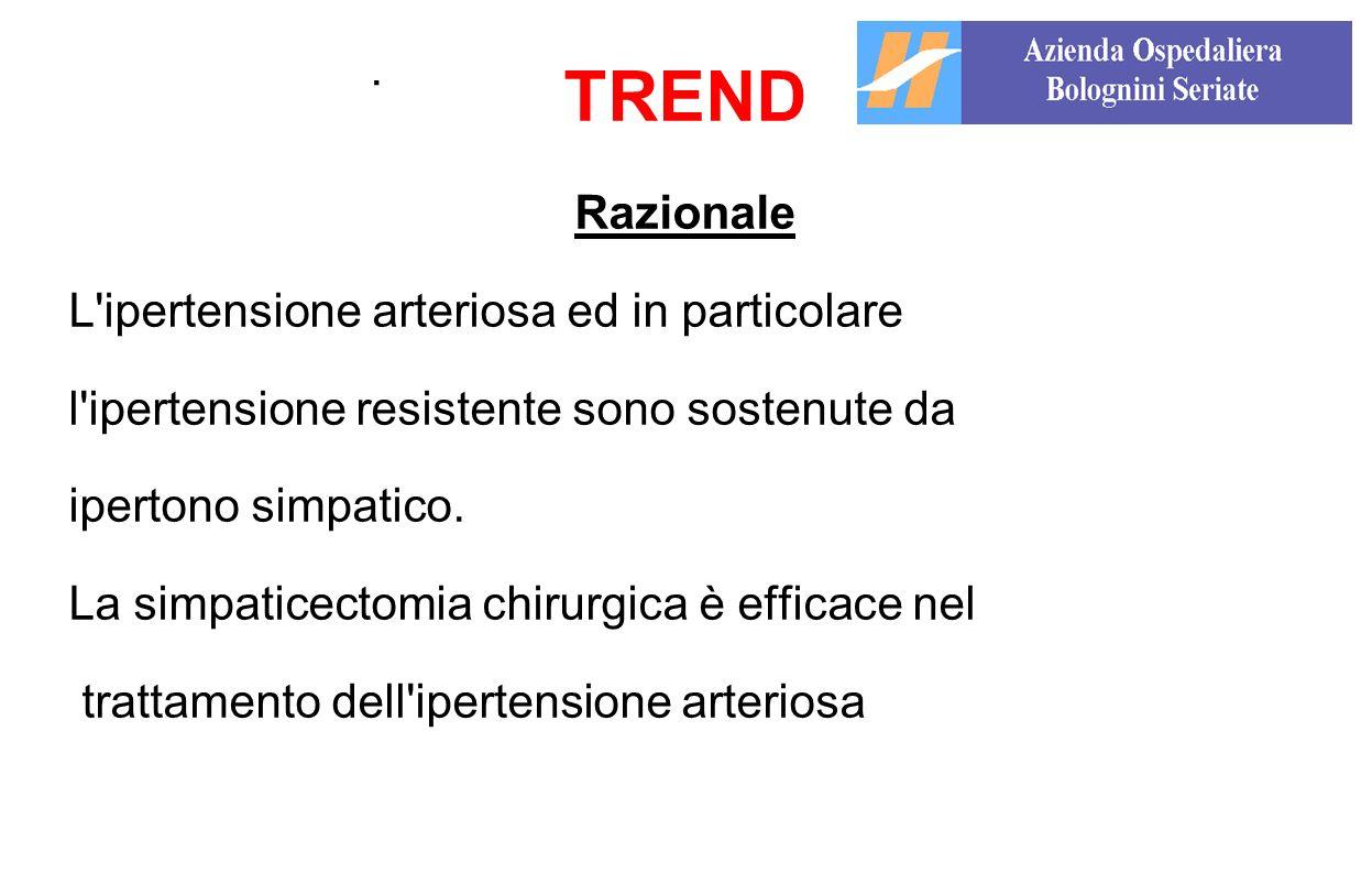 TREND . Razionale L ipertensione arteriosa ed in particolare