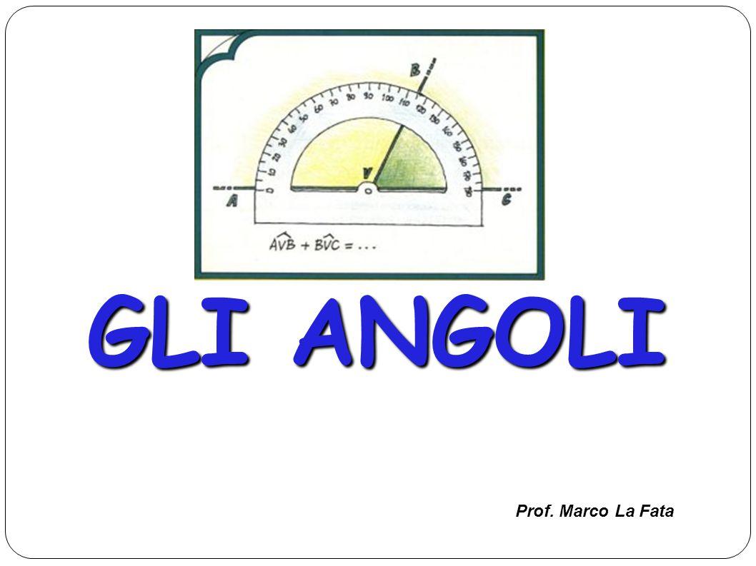GLI ANGOLI Prof. Marco La Fata