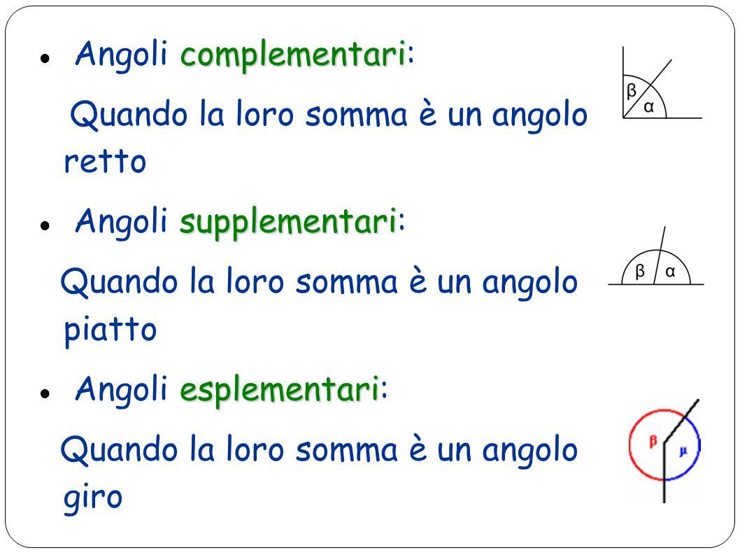 Angoli complementari: