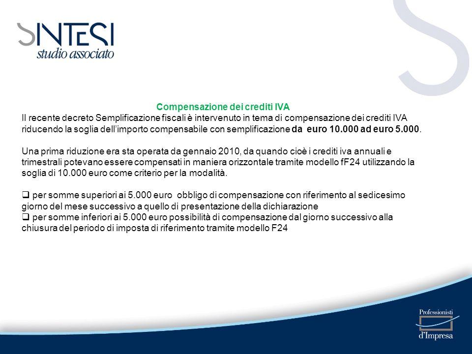 Compensazione dei crediti IVA