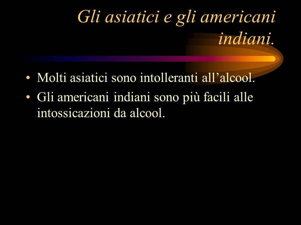 Gli asiatici e gli americani indiani.