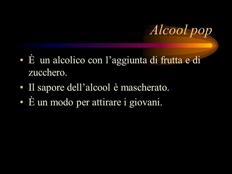 Alcool pop È un alcolico con l'aggiunta di frutta e di zucchero.