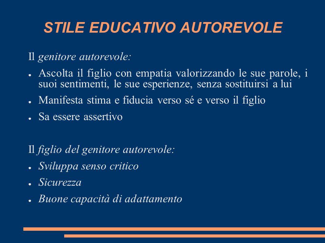 STILE EDUCATIVO AUTOREVOLE