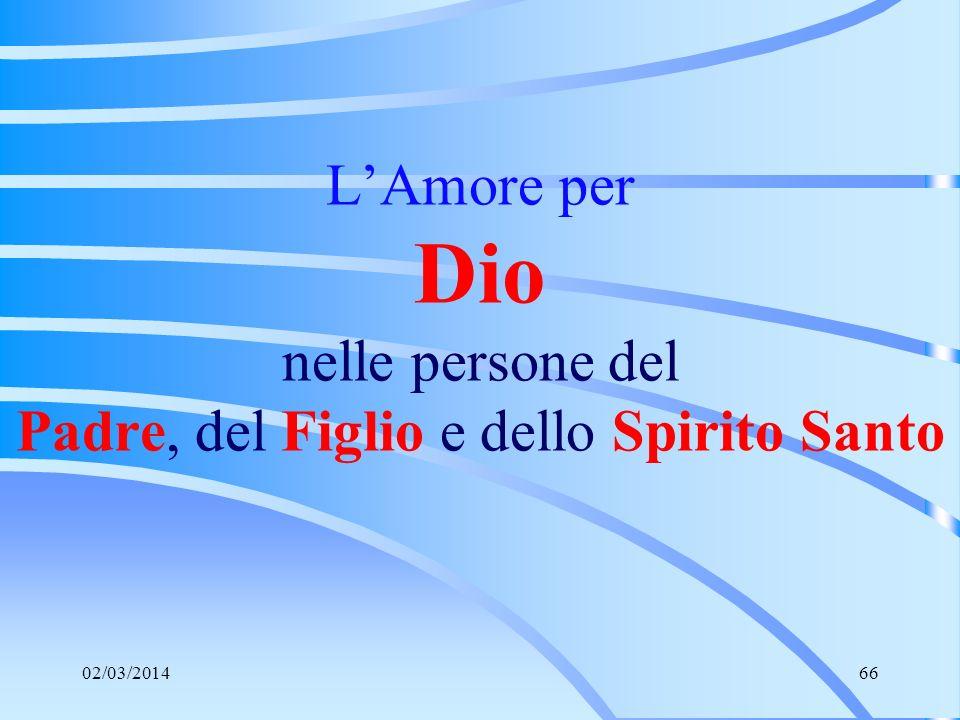 L'Amore per Dio nelle persone del Padre, del Figlio e dello Spirito Santo
