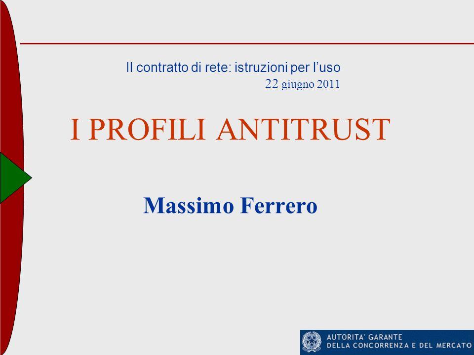 Il contratto di rete: istruzioni per l'uso 22 giugno 2011