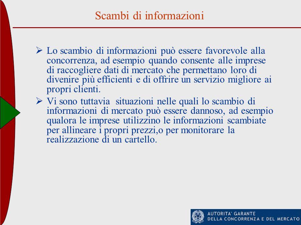 Scambi di informazioni