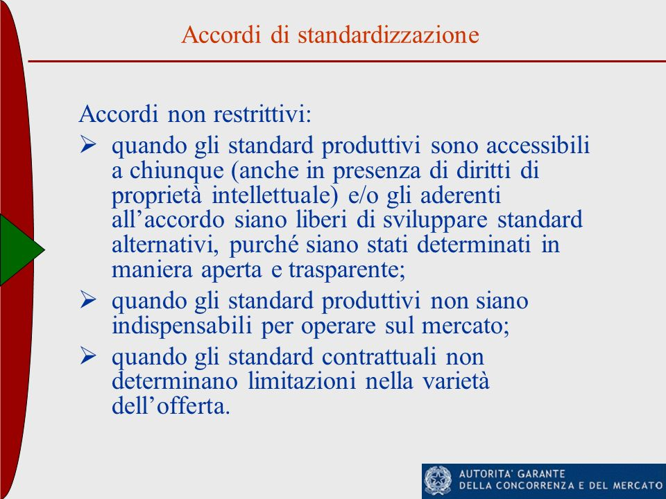 Accordi di standardizzazione