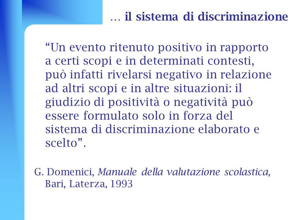 … il sistema di discriminazione
