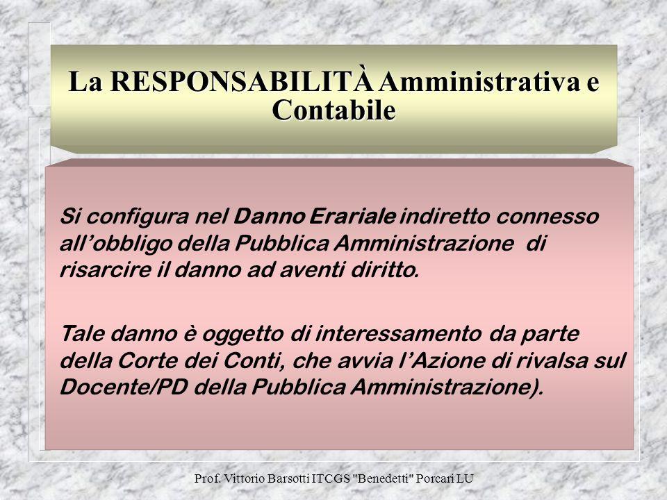 La RESPONSABILITÀ Amministrativa e Contabile