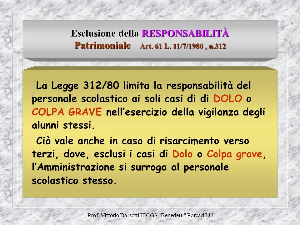 Prof. Vittorio Barsotti ITCGS Benedetti Porcari LU