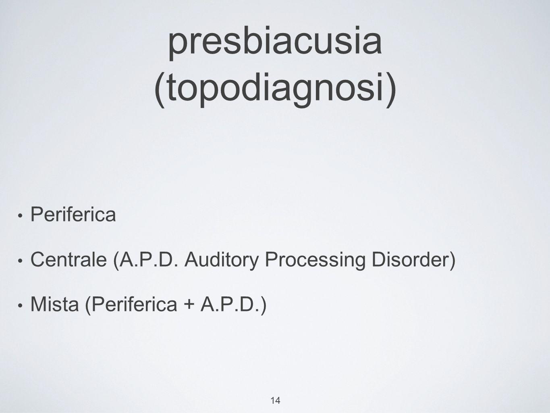 presbiacusia (topodiagnosi)