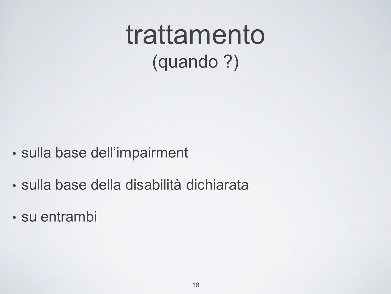 trattamento (quando ) sulla base dell'impairment