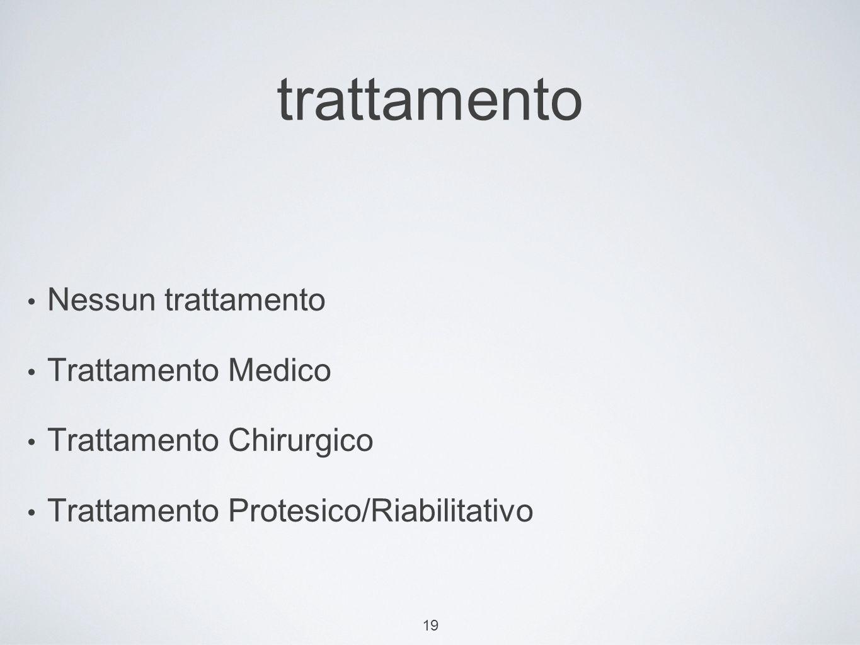trattamento Nessun trattamento Trattamento Medico