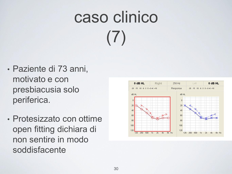 caso clinico (7) Paziente di 73 anni, motivato e con presbiacusia solo periferica.