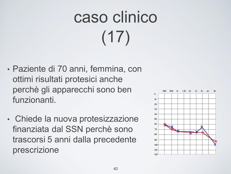 caso clinico (17) Paziente di 70 anni, femmina, con ottimi risultati protesici anche perchè gli apparecchi sono ben funzionanti.