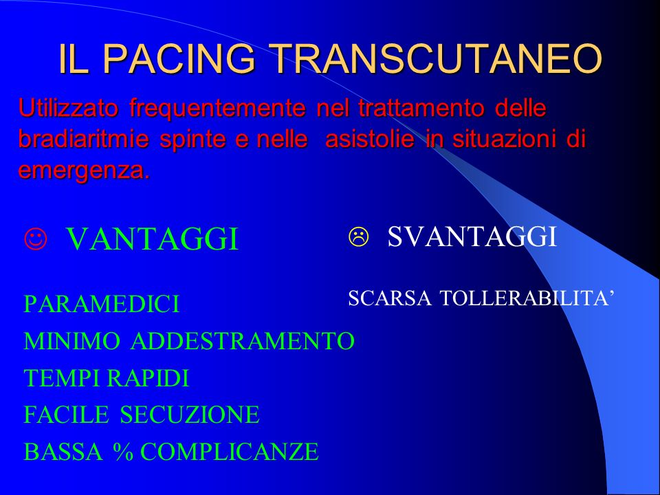 IL PACING TRANSCUTANEO