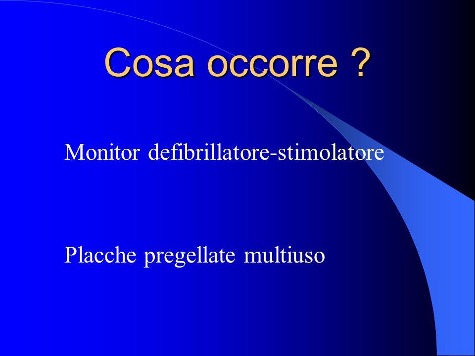 Cosa occorre Monitor defibrillatore-stimolatore
