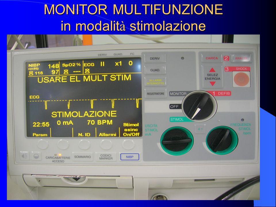 MONITOR MULTIFUNZIONE in modalità stimolazione