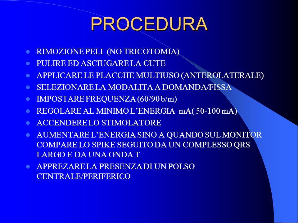 PROCEDURA RIMOZIONE PELI (NO TRICOTOMIA) PULIRE ED ASCIUGARE LA CUTE