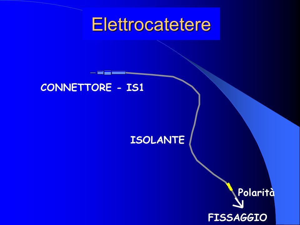 Elettrocatetere CONNETTORE - IS1 ISOLANTE Polarità FISSAGGIO